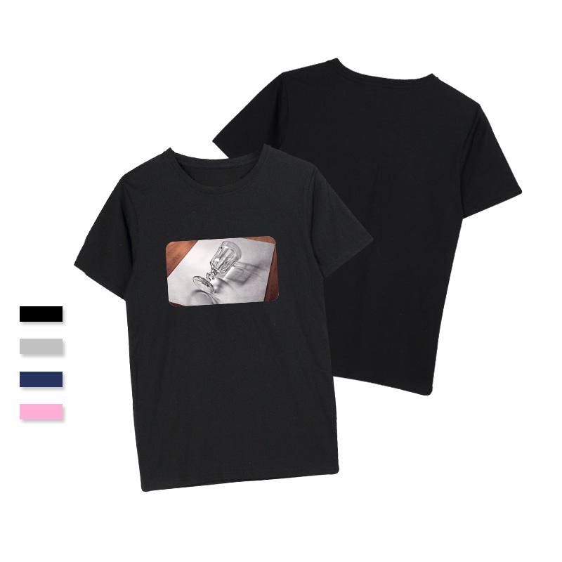 e0a663cc8 MVLB de algodón 100% t camisas ropa casual de color de impresión de tamaño  camisetas