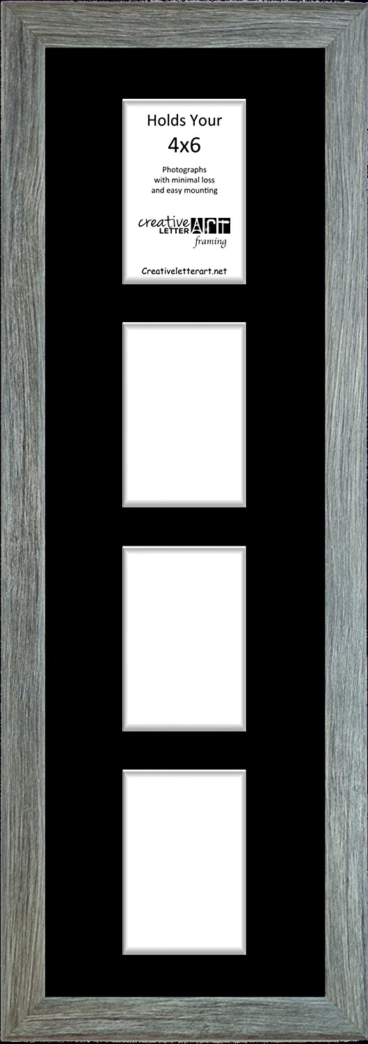 Buy Creative Letter Art 4 Opening Vertical Driftwood Picture Frame