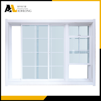 Powder coating aluminium vertical sliding window grill for Vertical sliding window design