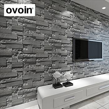 Stone Wall Paper 3d Brick Wall Wallpaper Vinyl Waterproof 3d