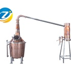 whiskey distilling equipment 500 gallon copper still moonshine still