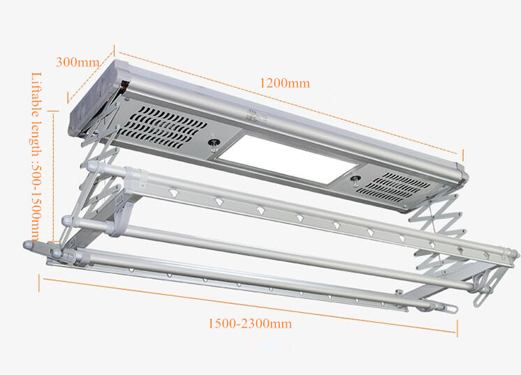 Lavanderia A Distanza di Controllo Automatico Elettrico Vestiti di Messa In Onda di Essiccazione Hanger Rack Con Luci A Led