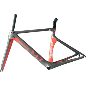Top quality orange road bike carbon frame with standard BB68