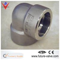 ASME B16.11 Long Radius Socket Weld Elbow Forged Pipe Fitting