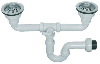 Big Head Sink Trap For Double Bowl Sinks 40 50mm (YP071)