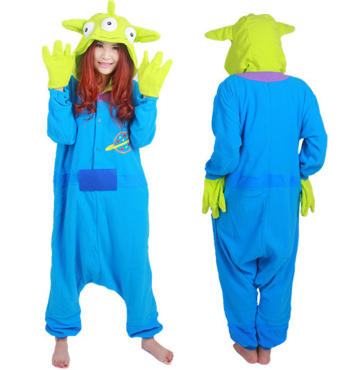 ce3f9c3282a3 Buy Hot Soft Cartoon Monster Animal Pajamas Adult Unisex Onesie Halloween  Three Eyes Space Aliens Costume Christmas Party in Cheap Price on  m.alibaba.com
