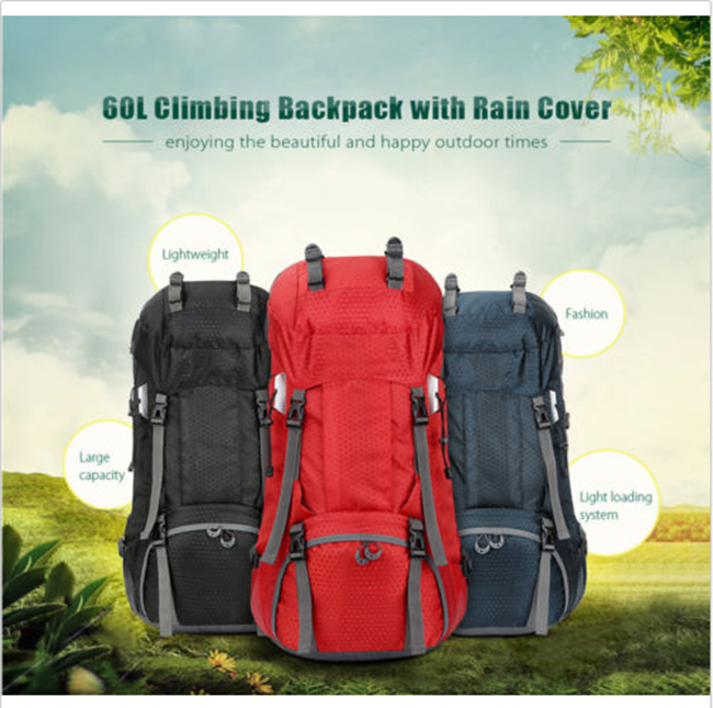 Outdoor Sports Ultralight Backpack Travel Rucksack Hiking Camping Shoulder Bag