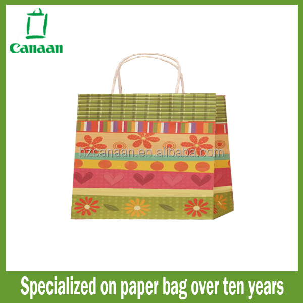 Fashionable discount recycle personalized paper bags
