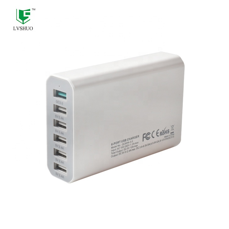 Hot Sale Baru 6 Port USB Charger Travel Charger USB 5 V 2.4A USB Dinding Charger