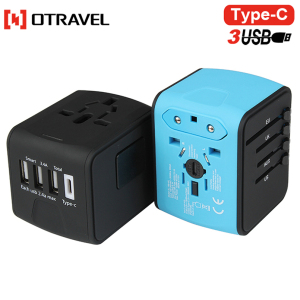 Otravel wall 4 port USB charger with Type-C& smart IC multi-function using forAndroid IOS phone charger