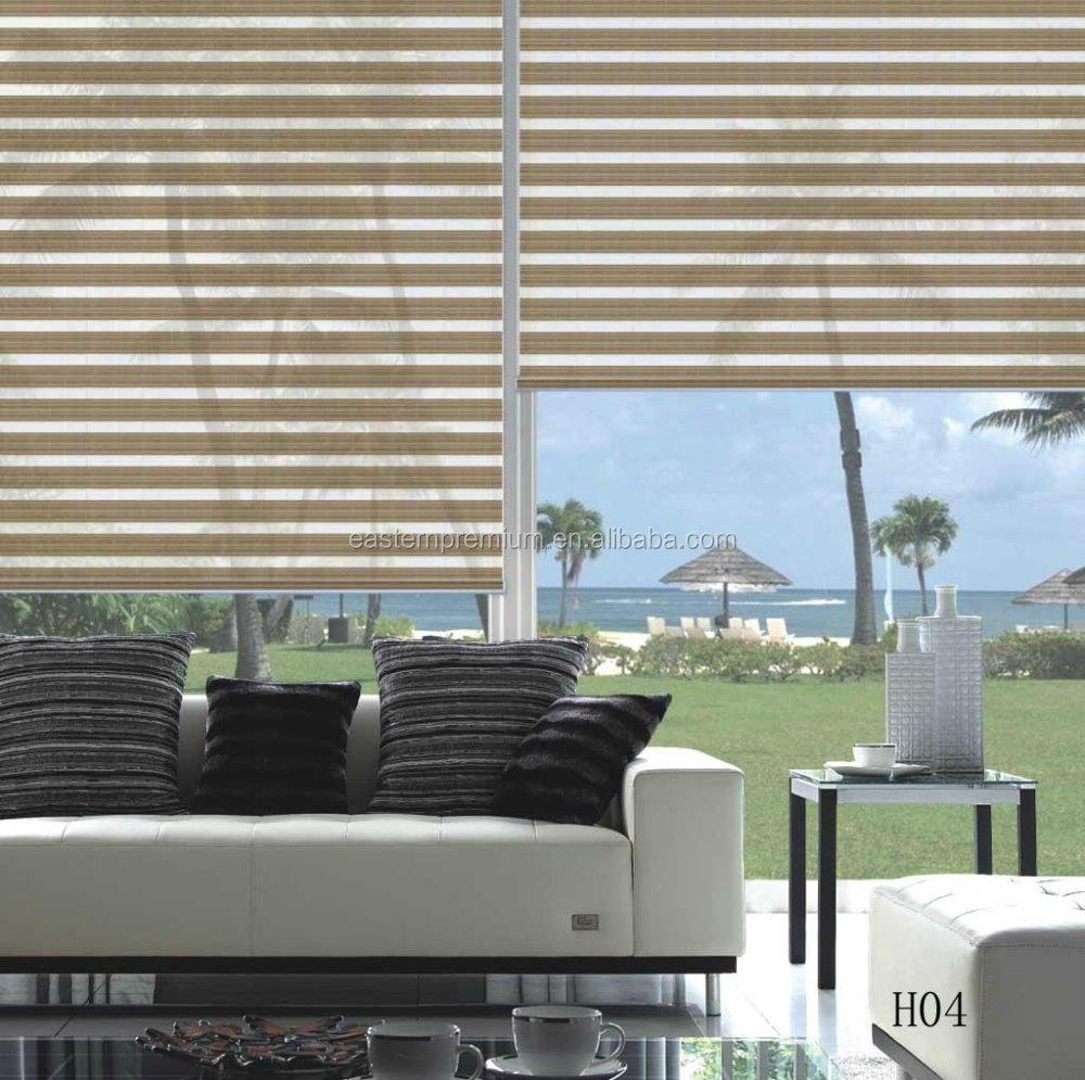 Nieuwe indoor huis venster dag nacht zebra rolluiken/zebra ...