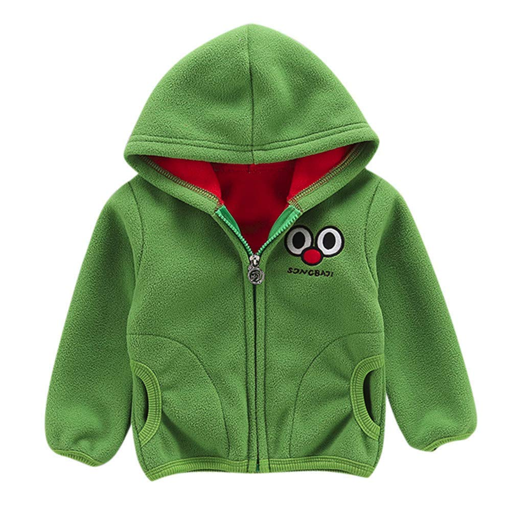 269e6ac3e Get Quotations · Outtop(TM) Baby Boys Girls Fleece Jackets Toddler Infant  Cartoon Long Sleeve Hooded Winter