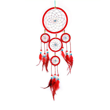 404040cm Diameter 40 Circles Red Feather Cherokee Indian Dream Adorable Cherokee Indian Dream Catcher