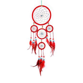 404040cm Diameter 40 Circles Red Feather Cherokee Indian Dream Adorable Cherokee Indian Dream Catcher