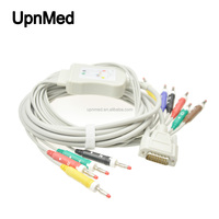 Fukuda Denshi 10 Lead ECG/EKG cable with leadwires DB15 PIN