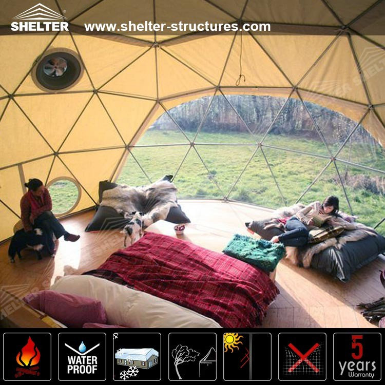 Best Price 5m Diameter Outdoor PVC Small Dome For Camping