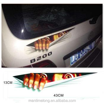 Funny Car Sticker 3d Eyes Peeking Monster Voyeur Car Hoods Trunk Thriller Rear Window Decal Buy Sample Car Sticker Design Car Body Sticker