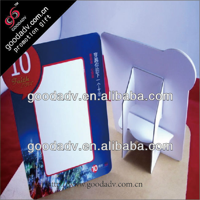 OEM cheap beautiful square folded paper photo frame / paper card photo picture frame