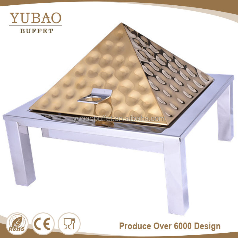 Guangzhou elegant gold catering equipment induction hammered Chafing dishes, brass chaffing dish