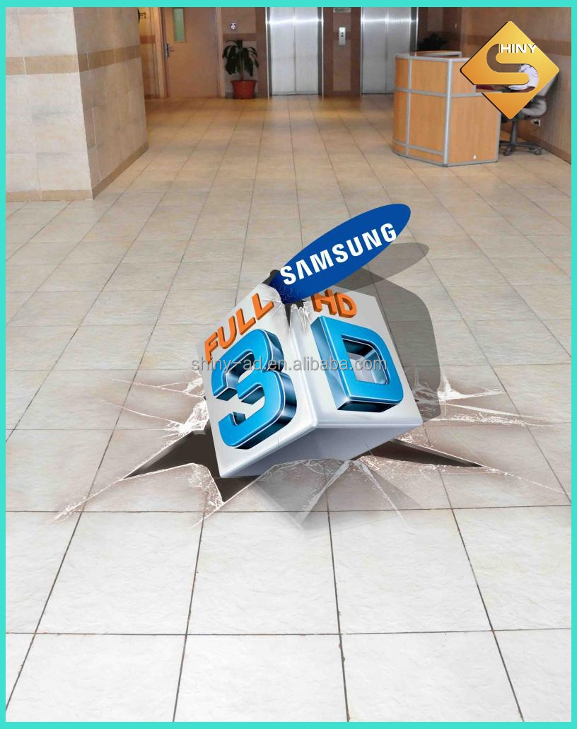 Removable Vinyl 3D Floor Decals