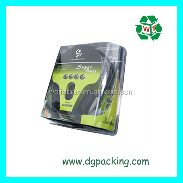 thick stable design electronical products plastic blister box