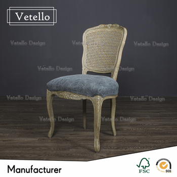 Scandinavian Antique Reproduction French Furniture Low Wooden Dining Chair