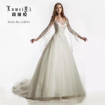 2019 Latest Design Long Sleeve Modern Bridal Wedding Dresses Buy Lace Wedding Dress Bridal Gownlong Sleeve Lace Wedding Dresseslong Sleeve Evening