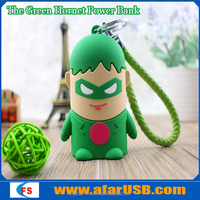 Cute PVC the Green Hornet Power Bank cartoon PVC moblie phone charger