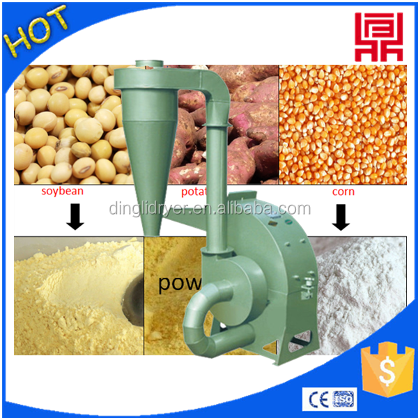 Pig/chicken/cow feed crushing process equipment 2016 good grians/rice/maize crusher mill