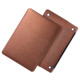 For MacBook Air Silk Leather Cover, For Apple MacBook Air 13 Brown Leather Case