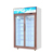The best two doors commercial glass display showcase drink coolers upright fridge for sale