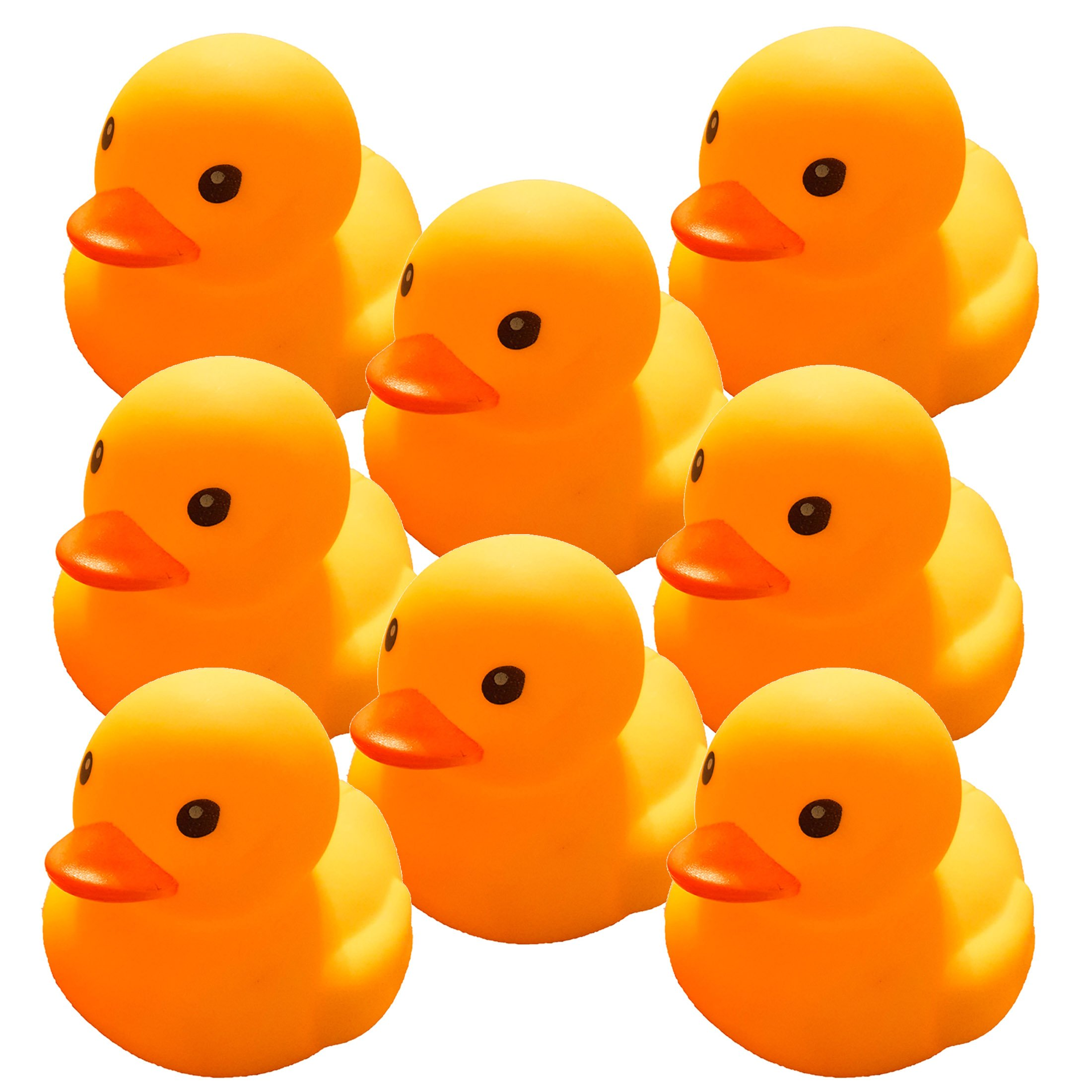 "Bulk Rubber Ducks - Large Yellow Rubber Ducks - (4"" x 3"" x 3"", Yellow, 8-pack) - DISCOUNT DUCKS"