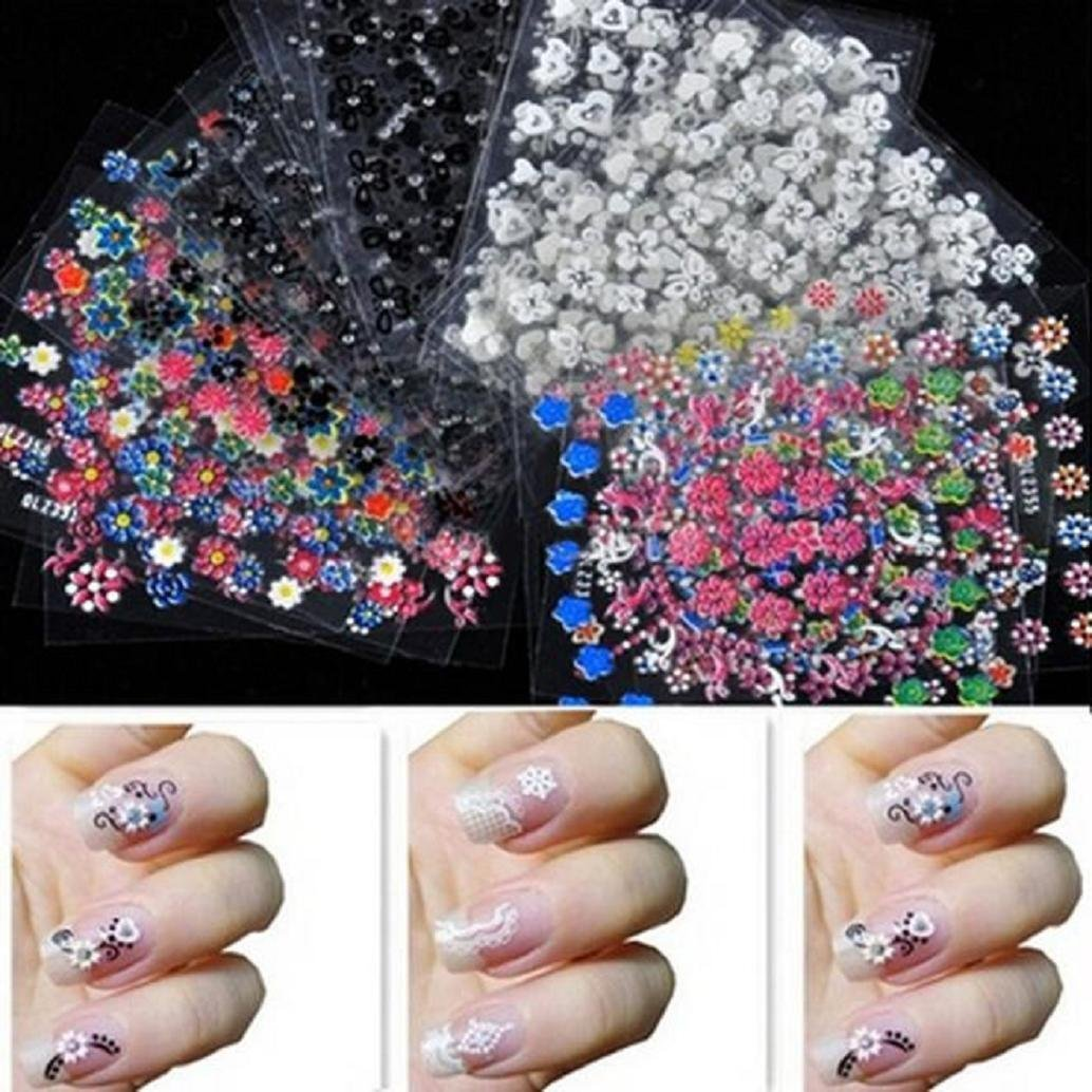 Buy Nail Art 3d 100 Mix Pyramid Spike Studs Flat Back (50 Gold+50 ...