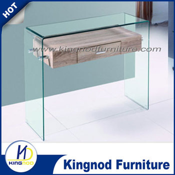 12mm Clear Tempered Glass Console Table Glass Consoles