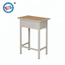 Low price Standard size middle high school student table and chair cheap steel frame student study desk
