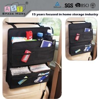 Hanging car back seat organizer bag with pockets