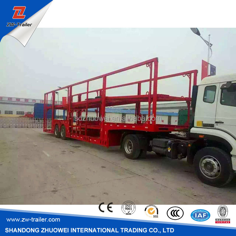 2 axle car carrier trailer/ car transport trailer for sale