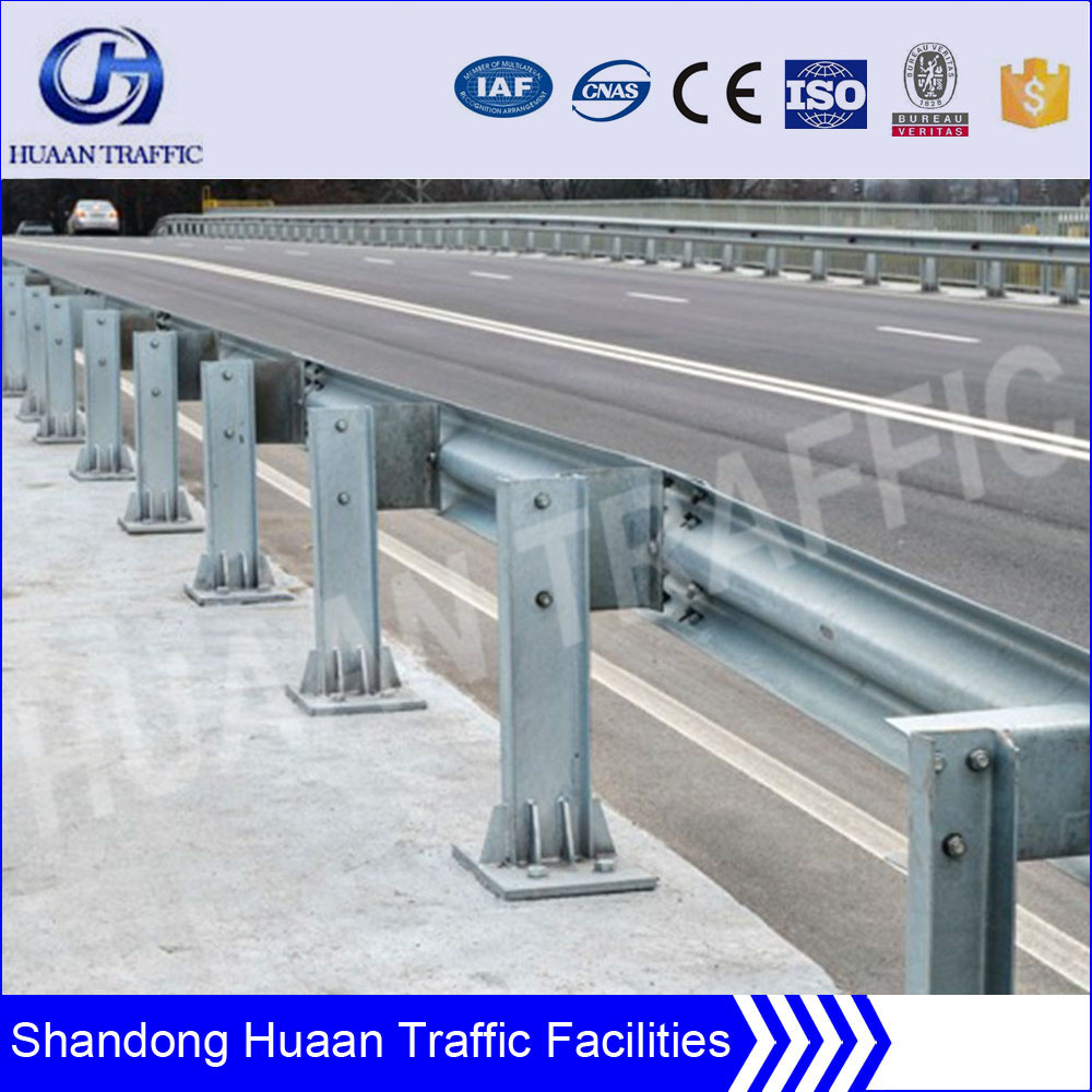 Metal road safety barrier