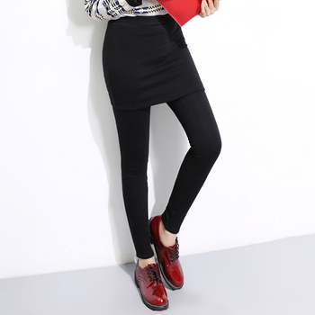 women wear leggings with fuzzy and wrap hip up prevent exposure warm