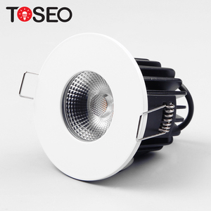 IP65 led fire rated bathroom downlights down lamps indoor lighting round recessed cob led downlight
