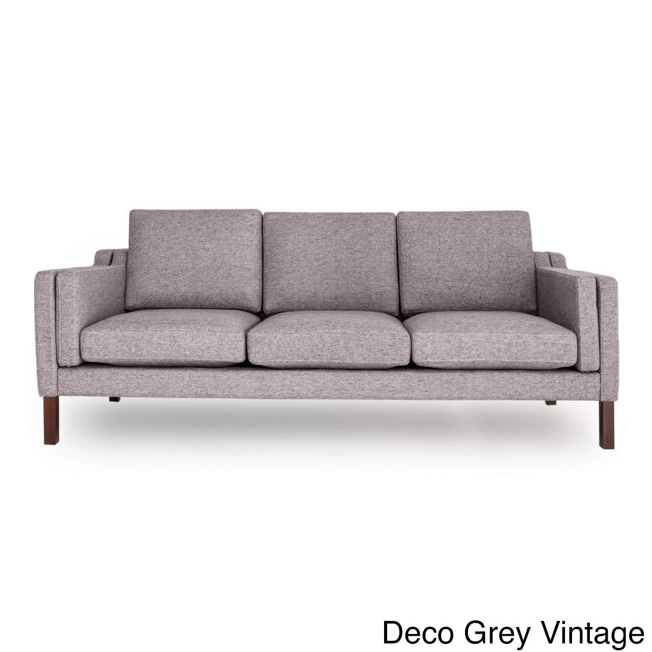 Mid-Century Modern Premium Fabric 3 Seat Sofa - Grey - Modern & Contemporary/Mid-Century Modern Sofa Cushions Patio Home Style Cushion CHOOSEandBUY