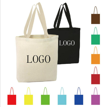 Custom Printed Logo Cotton Canvas Tote Bags