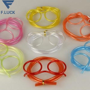 wholesale creative crazy plastic straw with glasses