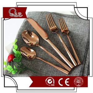 Copper Cutlery,Rose Gold Flatware Set for Wedding Event Rentals