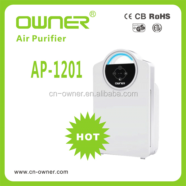 Household Appliance Room Quiet High Efficiency Ioniser Air Purifier