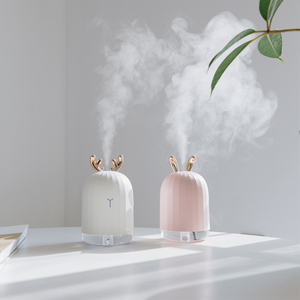 Cute Rabbit Deer Ultrasonic Humidifier Customize Creative Gift Office Desk Mini USB Humidifier 7 Color Light