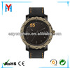 antique gold pu leather wholesale man odm watch