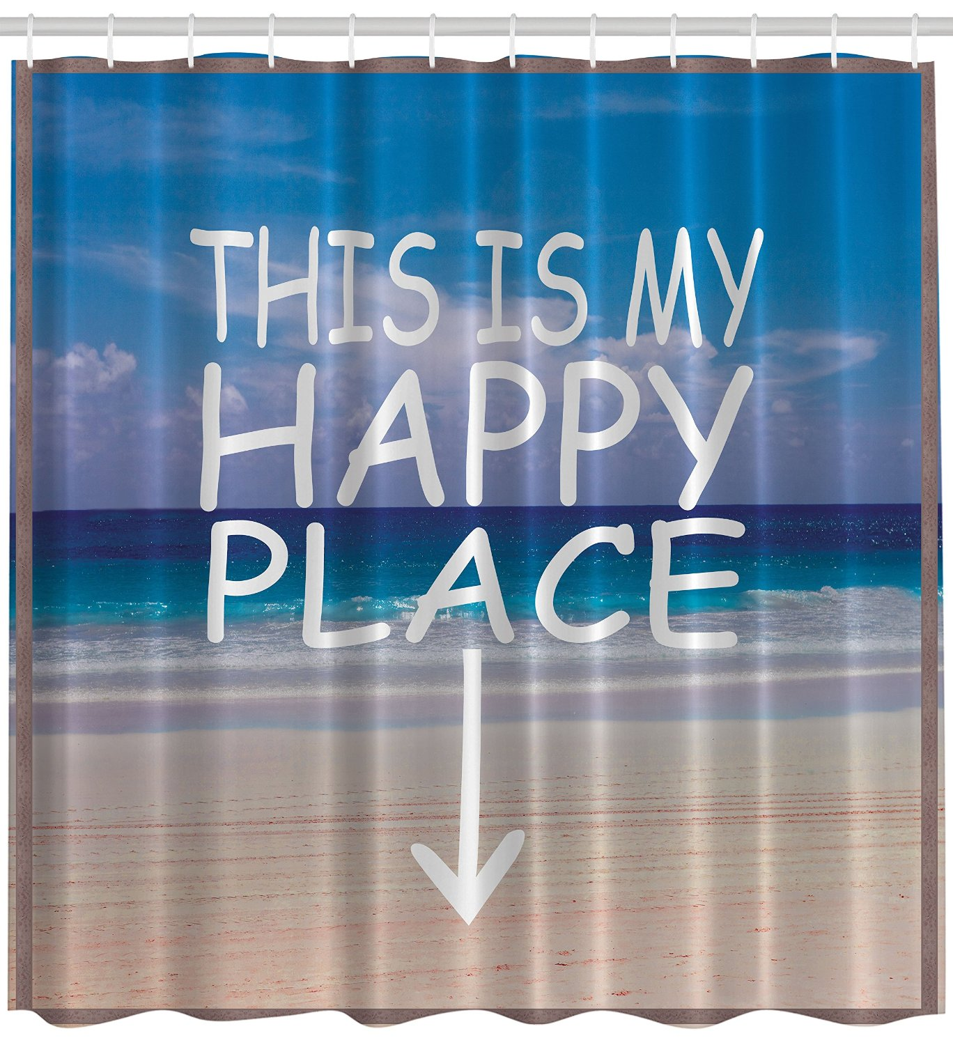 Cheap Beach Scene Fabric Shower Curtain Find Beach Scene