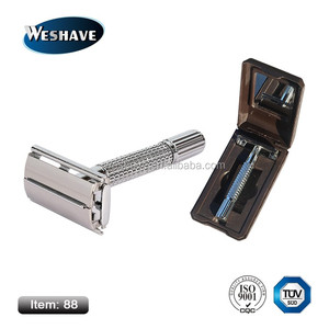 center twist to open safety razor with plastic gift box