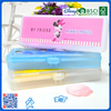 personalized plastic pencil box with CMYK printing for kids